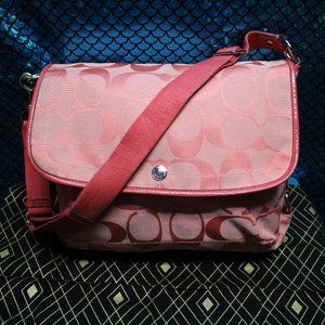 PINK COACH KYRA MESSENGER BAG